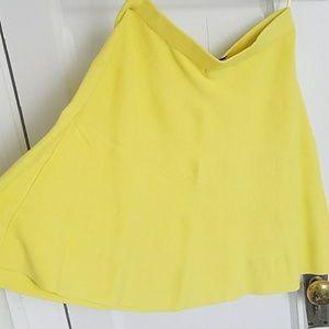 Romeo and Juliet yellow mini skirt